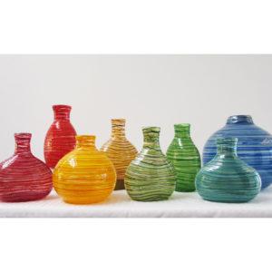 Bright Hoop Vases