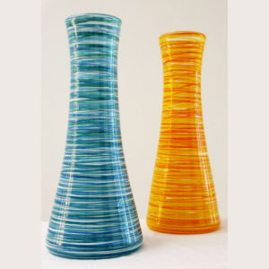 Sea & Yellow Hoops Vase smsq2